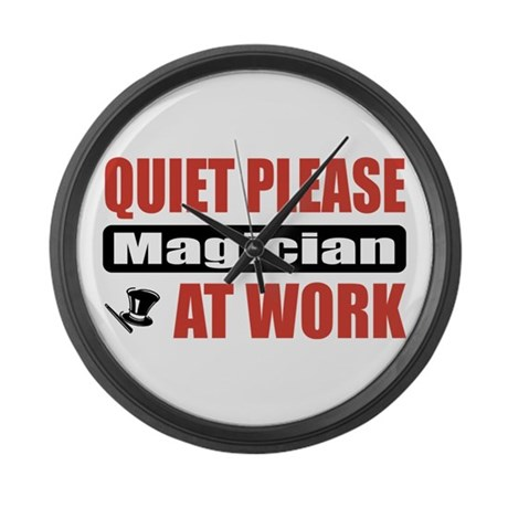 Magician Work Large Wall Clock