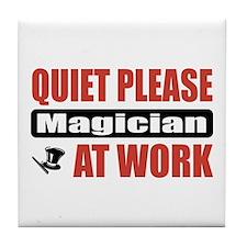 Magician Work Tile Coaster