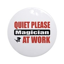 Magician Work Ornament (Round)
