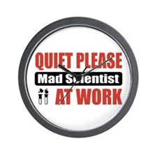 Mad Scientist Work Wall Clock
