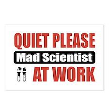 Mad Scientist Work Postcards (Package of 8)