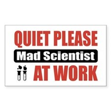 Mad Scientist Work Rectangle Decal