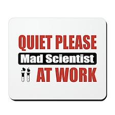 Mad Scientist Work Mousepad