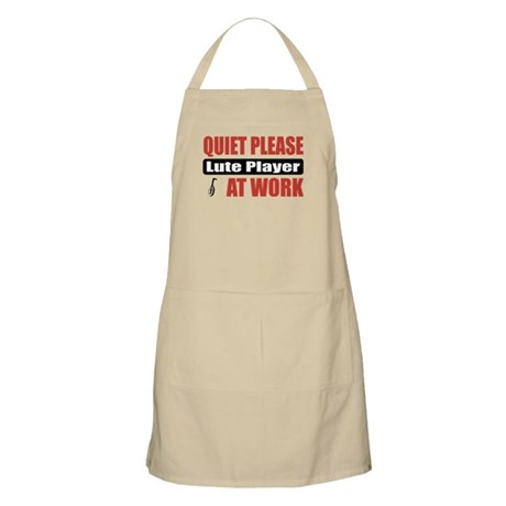Lute Player Work BBQ Apron