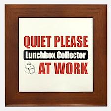 Lunchbox Collector Work Framed Tile