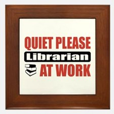 Librarian Work Framed Tile