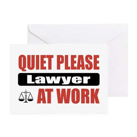 Lawyer Work Greeting Card