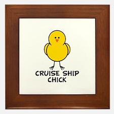 Cruise Ship Chick Framed Tile