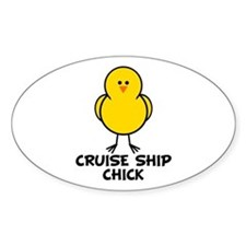 Cruise Ship Chick Oval Decal