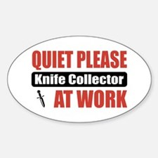 Knife Collector Work Oval Decal
