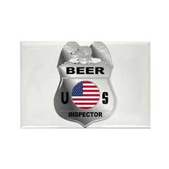 US Beer Inspector Rectangle Magnet (10 pack)