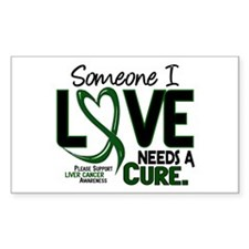 Needs A Cure 2 LIVER CANCER Rectangle Decal