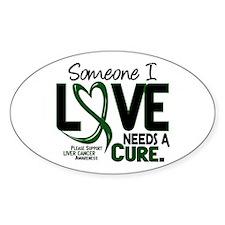 Needs A Cure 2 LIVER CANCER Oval Sticker (10 pk)