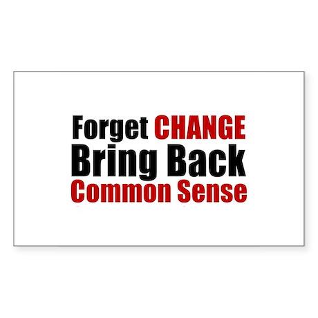 Common Sense Rectangle Sticker