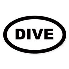 Dive Car Oval Decal