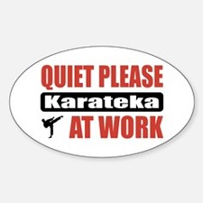 Karateka Work Oval Decal