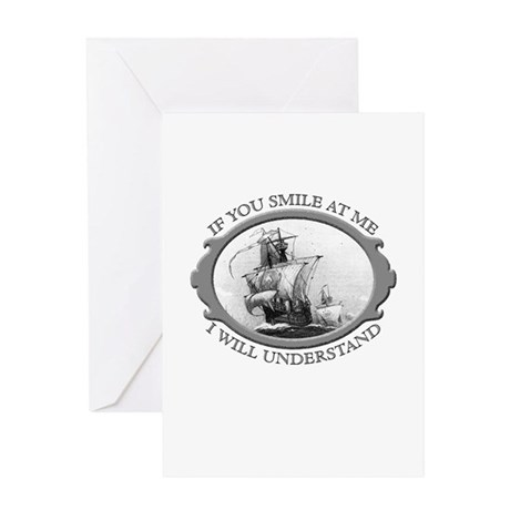 """""""If You Smile At Me"""" Greeting Card"""