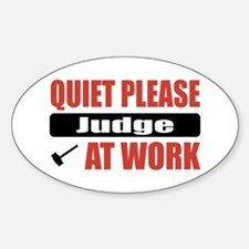 Judge Work Oval Decal