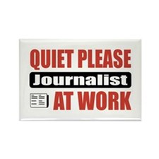 Journalist Work Rectangle Magnet