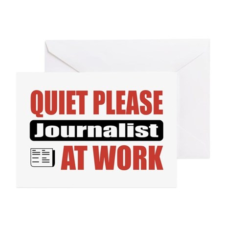 Journalist Work Greeting Cards (Pk of 20)