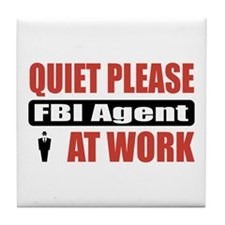 FBI Agent Work Tile Coaster