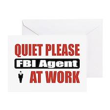 FBI Agent Work Greeting Card