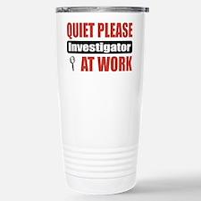 Investigator Work Stainless Steel Travel Mug