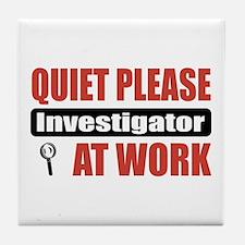 Investigator Work Tile Coaster