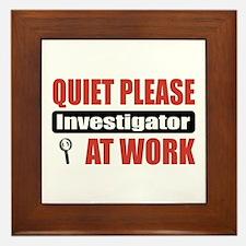 Investigator Work Framed Tile