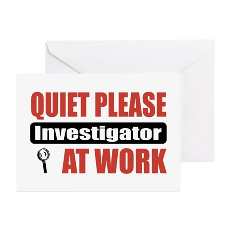 Investigator Work Greeting Cards (Pk of 10)