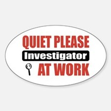 Investigator Work Oval Decal