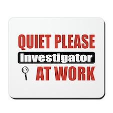 Investigator Work Mousepad