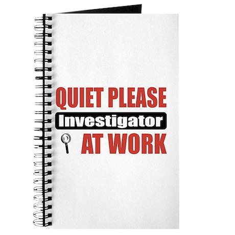 Investigator Work Journal