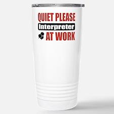 Interpreter Work Travel Mug