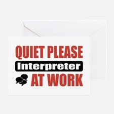 Interpreter Work Greeting Card