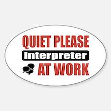 Interpreter Work Oval Decal