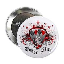 """Poker Star 2.25"""" Button"""
