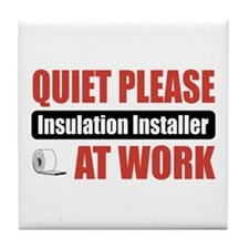 Insulation Installer Work Tile Coaster