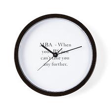 MBA Wall Clock