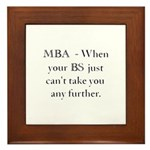 MBA Framed Tile