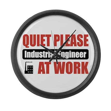 Industrial Engineer Work Large Wall Clock