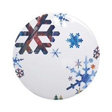 'Bunch of Snowflakes' Ornament (Round)