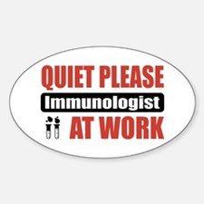 Immunologist Work Oval Decal