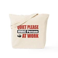 HVAC Person Work Tote Bag