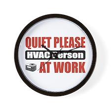 HVAC Person Work Wall Clock