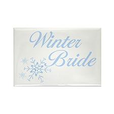 Winter Bride Rectangle Magnet