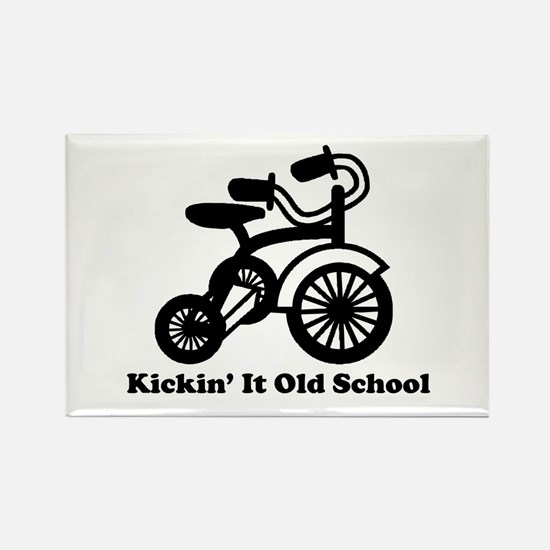 Unique Old school biker Rectangle Magnet