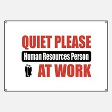 Human Resources Person Work Banner
