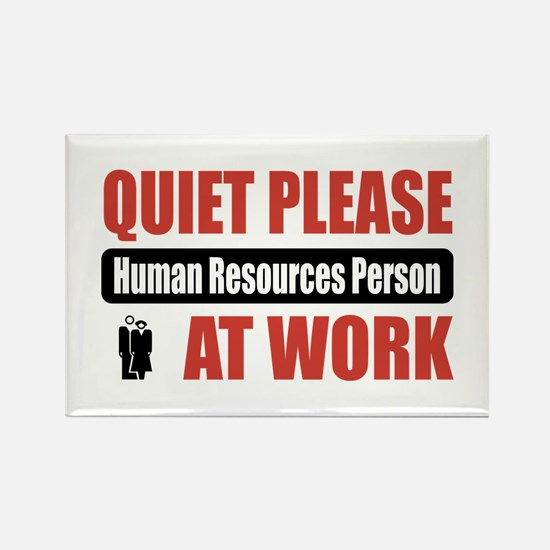 Human Resources Person Work Rectangle Magnet (10 p