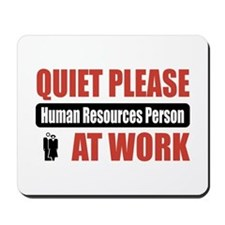Human Resources Person Work Mousepad